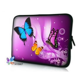 """Pouzdro Huado pro notebook do 10.2"""" Motýlci ve fialové"""