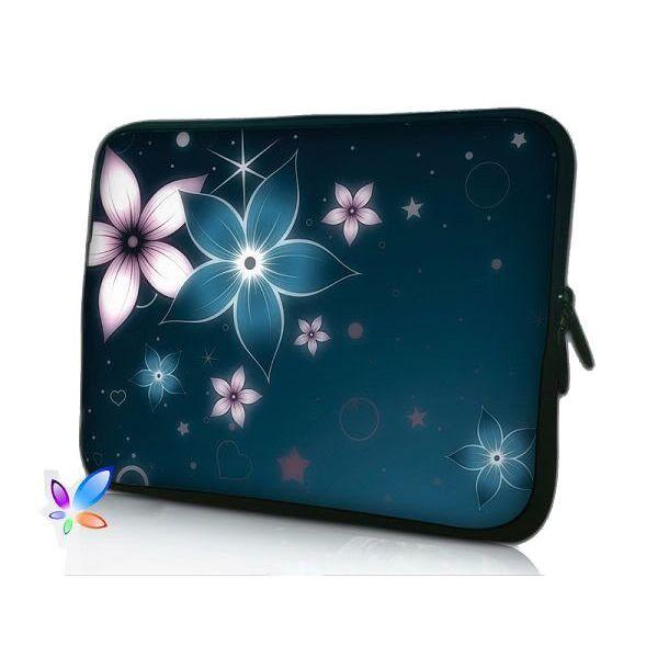 """Pouzdro Huado pro notebook do 10.2"""" Modré kvítí"""