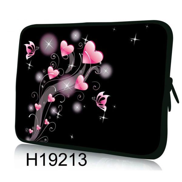 """Pouzdro Huado pro notebook do 10.2"""" Růžové srdíčka"""