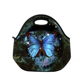 Termotaška Huado z neoprénu- Hodiny a motýl