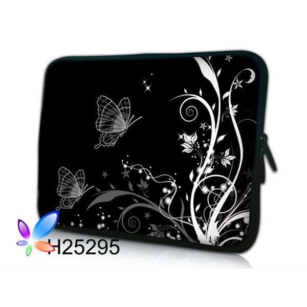 """Pouzdro Huado pro notebook do 12.1"""" Černobílý motýlci"""