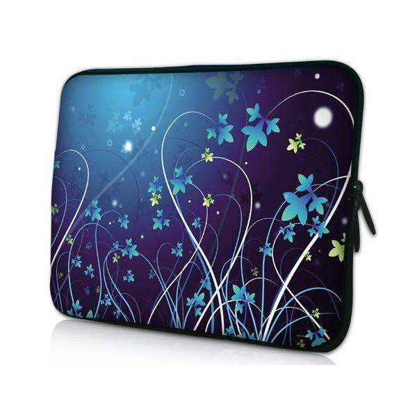 """Pouzdro Huado pro notebook do 12.1"""" Modré květy"""