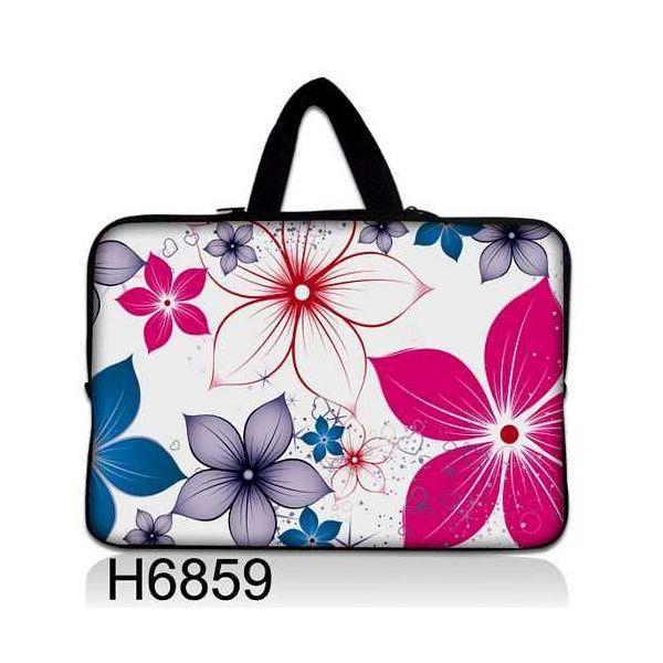 """Taška Huado pro notebook do 10.2"""" Květiny na jaře"""