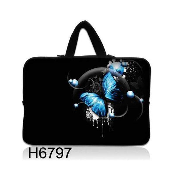 """Taška Huado pro notebook do 10.2"""" Modrý motýl"""