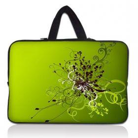 """Taška Huado pro notebook do 10.2"""" Zelený rozkvět"""