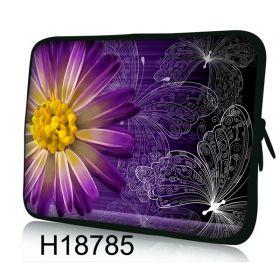 """Pouzdro Huado pro notebook do 10.2"""" Gerbera a motýlci"""