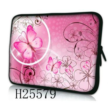"""Pouzdro Huado pro notebook do 10.2"""" Motýlek růžový"""