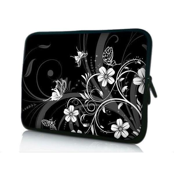 """Pouzdro Huado pro notebook do 12.1"""" Květiny a motýlci"""