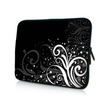 "Pouzdro Huado pro notebook do 13.3"" Floral black & white"