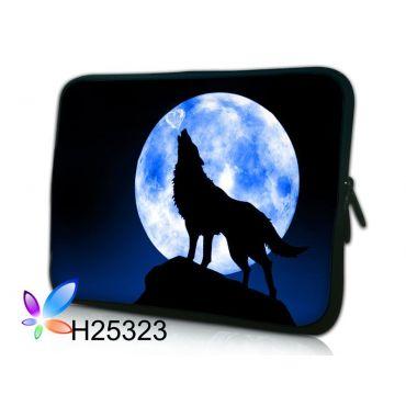 """Pouzdro Huado pro notebook do 12.1"""" Vlk vyjící na měsíc"""