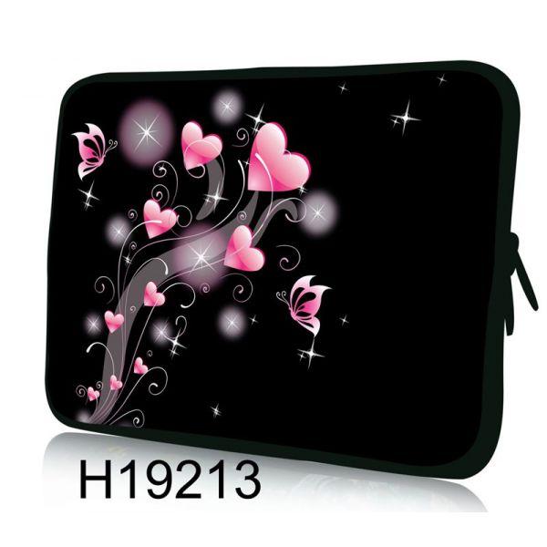 """Pouzdro Huado pro notebook do 12.1"""" Růžové srdíčka"""