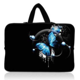 """Taška Huado pro notebook do 12.1"""" Modrý motýlek"""