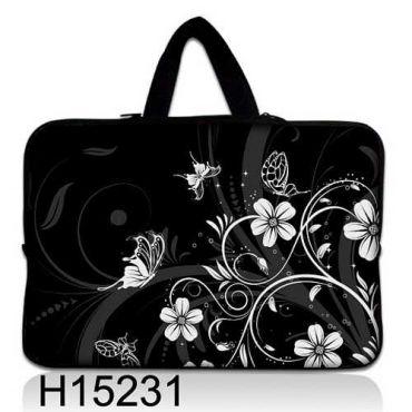 """Taška Huado pro notebook do 12.1"""" Květiny a motýlci"""