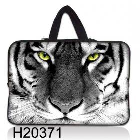 """Taška Huado pro notebook do 12.1"""" Tygr černobílý"""
