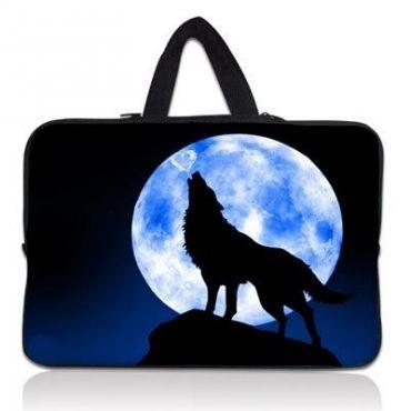 """Taška Huado pro notebook do 12.1"""" Vlk vyjící na měsíc"""