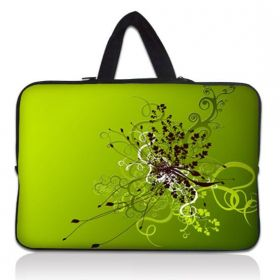 """Taška Huado pro notebook do 12.1"""" Zelený rozkvět"""