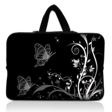 """Taška Huado pro notebook do 12.1"""" Černobílý motýlci"""