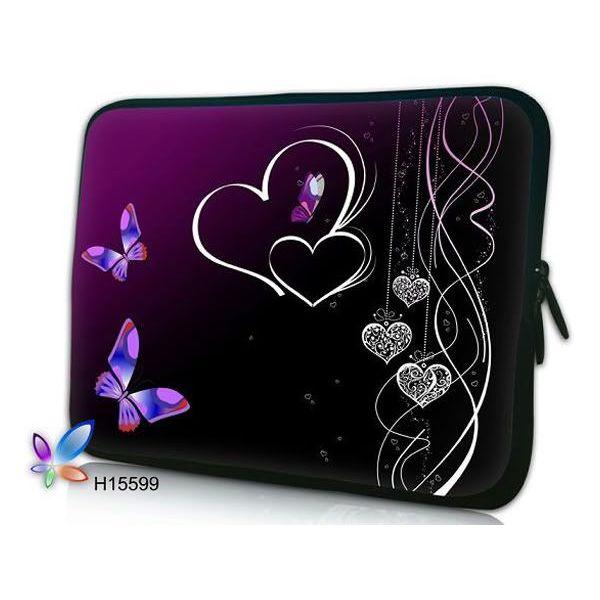 """Pouzdro Huado pro notebook do 14.4"""" Dvojíté srdce"""