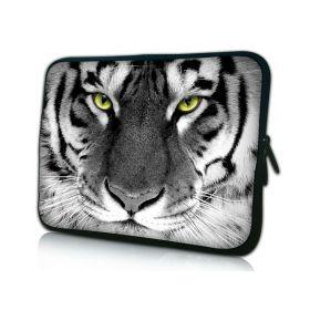 """Pouzdro Huado pro notebook do 14.4"""" Tygr černobílý"""