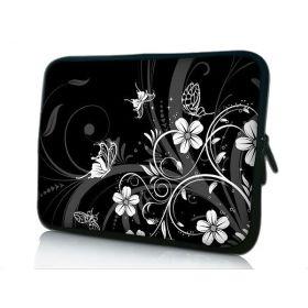 """Pouzdro Huado pro notebook do 14.4"""" Květiny a motýlci"""