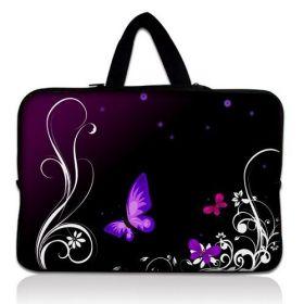 """Taška Huado pro notebook do 13.3"""" Purpuroví motýlci"""