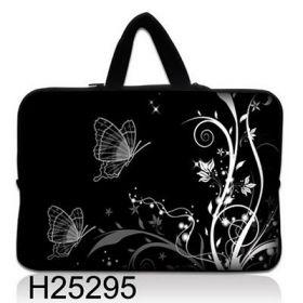 """Taška Huado pro notebook do 13.3"""" Černobílý motýlci"""