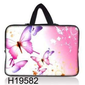 """Taška Huado pro notebook do 13.3"""" Růžový motýlci"""
