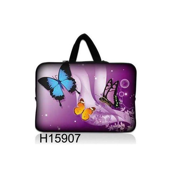 """Taška Huado pro notebook do 13.3"""" Motýlci ve fialové"""