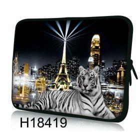 """Pouzdro Huado pro notebook do 14.4"""" Bílý tygr"""
