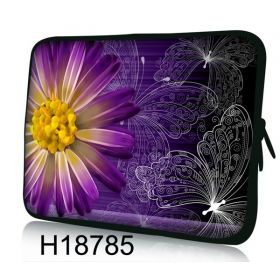 """Pouzdro Huado pro notebook do 14.4"""" Gerbera a motýlci"""