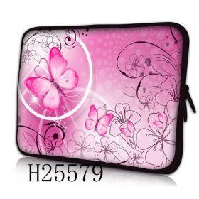 """Pouzdro Huado pro notebook do 14.4"""" Motýlek růžový"""