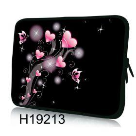 """Pouzdro Huado pro notebook do 14.4"""" Růžové srdíčka"""