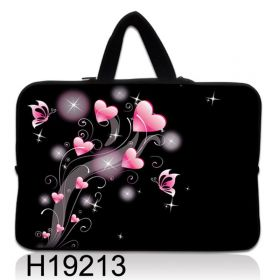 """Taška Huado pro notebook do 13.3"""" Růžové srdíčka"""