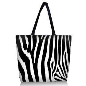 Nákupní a plážová taška Huado - Zebra