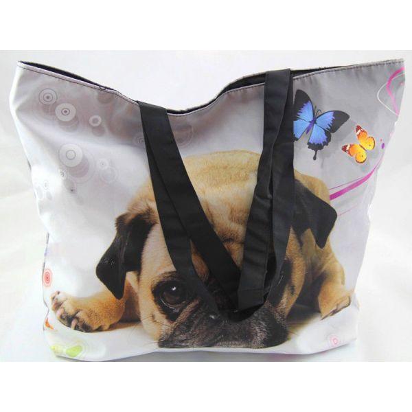 Nákupní a plážová taška Huado - Mops