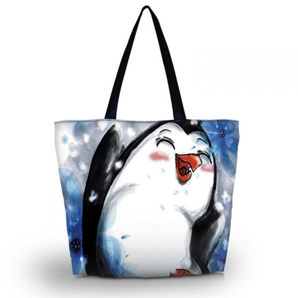 Nákupní a plážová taška Huado - Tučňák