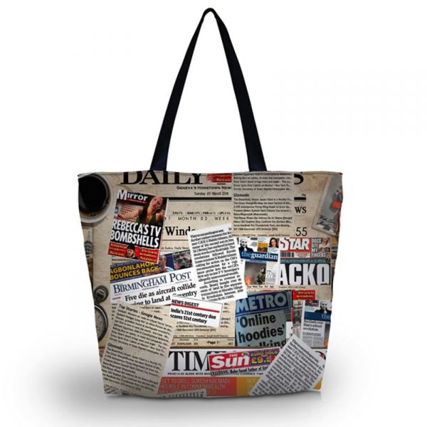 Nákupní a plážová taška Huado - Noviny