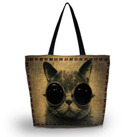 Nákupní a plážová taška Huado - Kočka