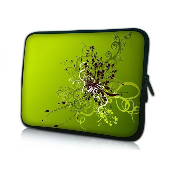 """Pouzdro Huado pro notebook do 14.4"""" Zelený rozkvět"""