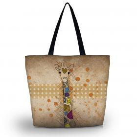 Nákupní a plážová taška Huado - Barevná žirafa