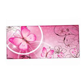 XXL podložka pod myš HUADO Motýlek růžový