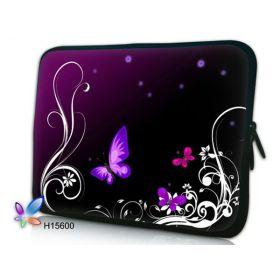 """Pouzdro Huado pro notebook do 15.6"""" Purpuroví motýlci"""