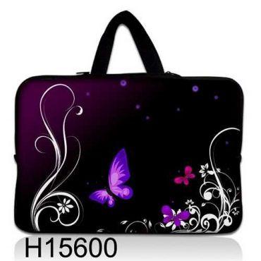 """Taška Huado pro notebook do 14.4"""" Purpuroví motýlci"""