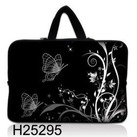 """Taška Huado pro notebook do 14.4"""" Černobílý motýlci"""