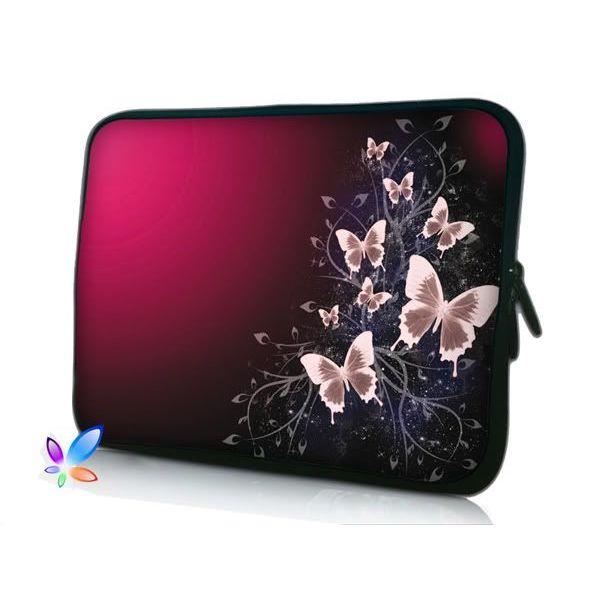 "Pouzdro Huado pro notebook do 15.6"" Motýlci v bordo"