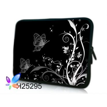 """Pouzdro Huado pro notebook do 15.6"""" Černobílý motýlci"""