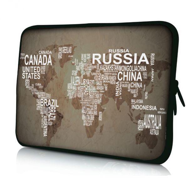 """Pouzdro Huado pro notebook do 15.6"""" Mapa světa"""
