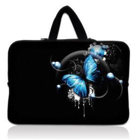 """Taška Huado pro notebook do 15.6"""" Modrý motýl"""