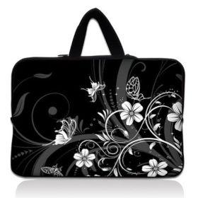 """Taška Huado pro notebook do 15.6"""" Květiny a motýlci"""