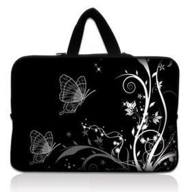 """Taška Huado pro notebook do 15.6"""" Černobílý motýlci"""